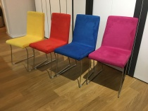 Liz dining chair in multicolour macrosuede x6