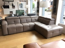 Verona corner sofa in leather 285x218cm