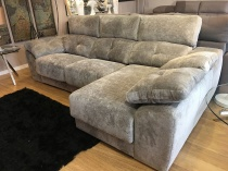 Meridian sofa and chaise with sliding seats 272cm