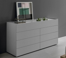 POOL chest of drawers in grey matt