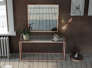 Luxe console with matching mirror  023