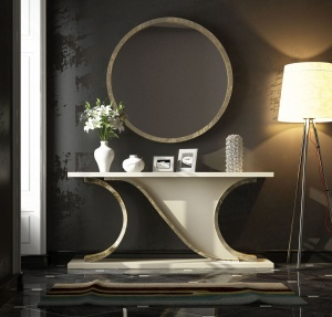 Luxe Console with matching mirror 026