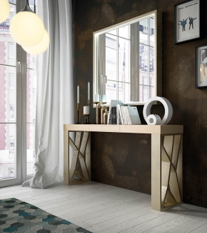 Luxe console with matching mirror 042