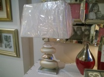 Large white pebble lamp display