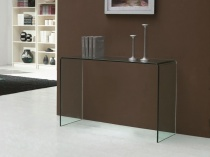 Aurora glass console table