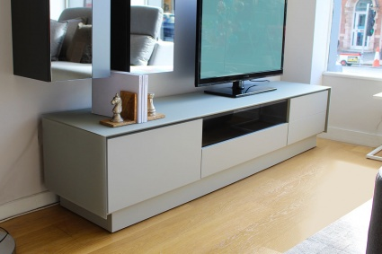 BOOK TV stand in glass display 215cm