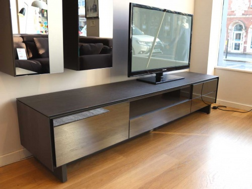 BOOK TV 215cm stand, porcelain frame, mirror fronts