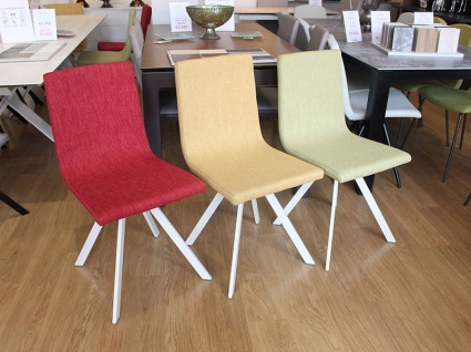 Short back Candy dining chair in multicolour fabric display x6