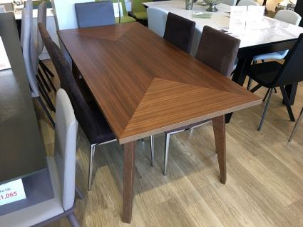 City wooden fixed dining table display 180x85cm