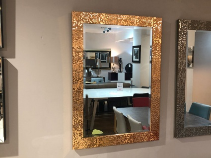 Kingsway gold mosaic frame mirror 89x63cm