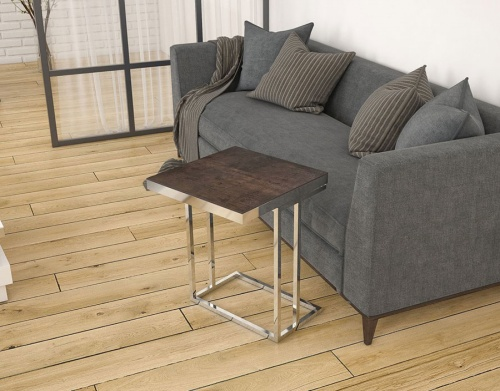 Sigma rotating ceramic top side table