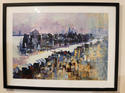 New York Manhattan Island 63x84cm