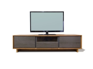 BOOK TV06 TV stand wooden frame ceramic fronts