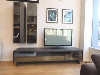 BOOK combination TV stand 215cm with 2x wall units