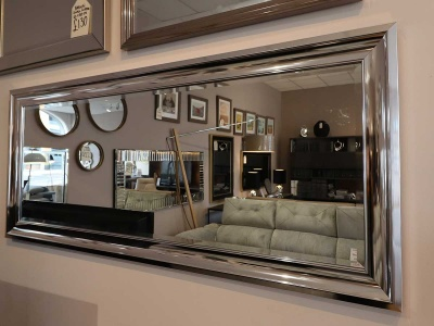 Bowen chrome frame mirror display