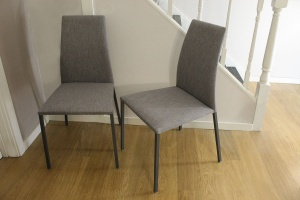 Chic dining chair in fabric display x6