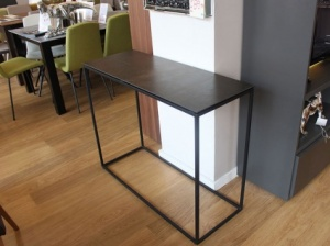 Julia porcelain top console table in steel dark  100x38x80cm