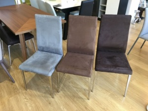 Livorno dining chair in microfibre  display x6