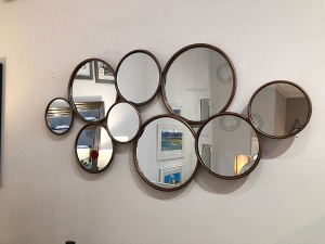 Kempford round mirrors display 121x58.5cm