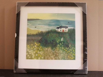 Cottage by Ocean Meadow 43x43cm