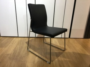Layla dining chair in black x6