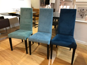 Praga dining chairs in fabric set of 6
