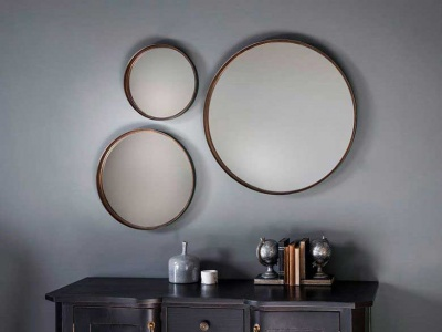 Reading round mirror display large 61cm