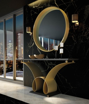 Luxe console with matching mirror 007