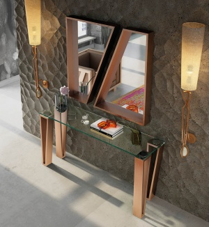 Luxe console with matching mirror 015