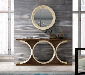 Luxe console with matching mirror 021