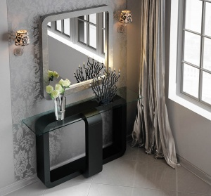 Luxe Console with matching mirror 028