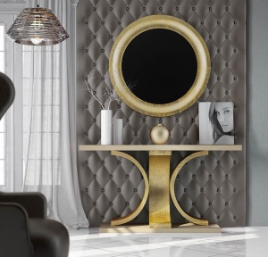 Luxe console with matching mirror 029