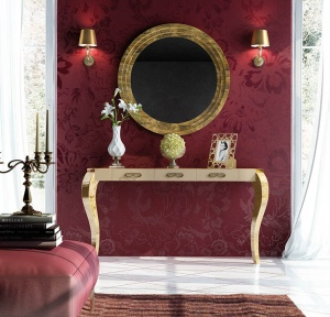 Luxe console with matching mirror 033