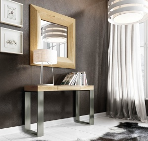 Luxe console with matching mirror 039