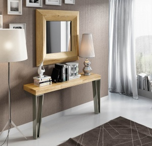 Luxe console with matching mirror 043