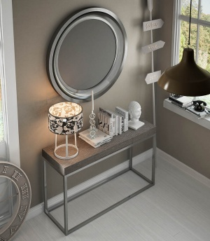 Luxe console with matching mirror 047