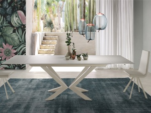 Motion glass dining table